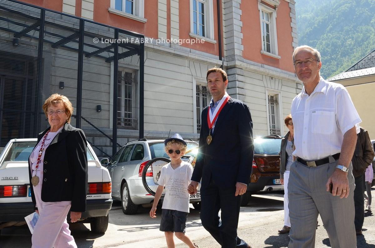 Photographe tourisme en Tarentaise : Fabrice Pannekoucke et Philippe Nivelle, maire de Moûtiers