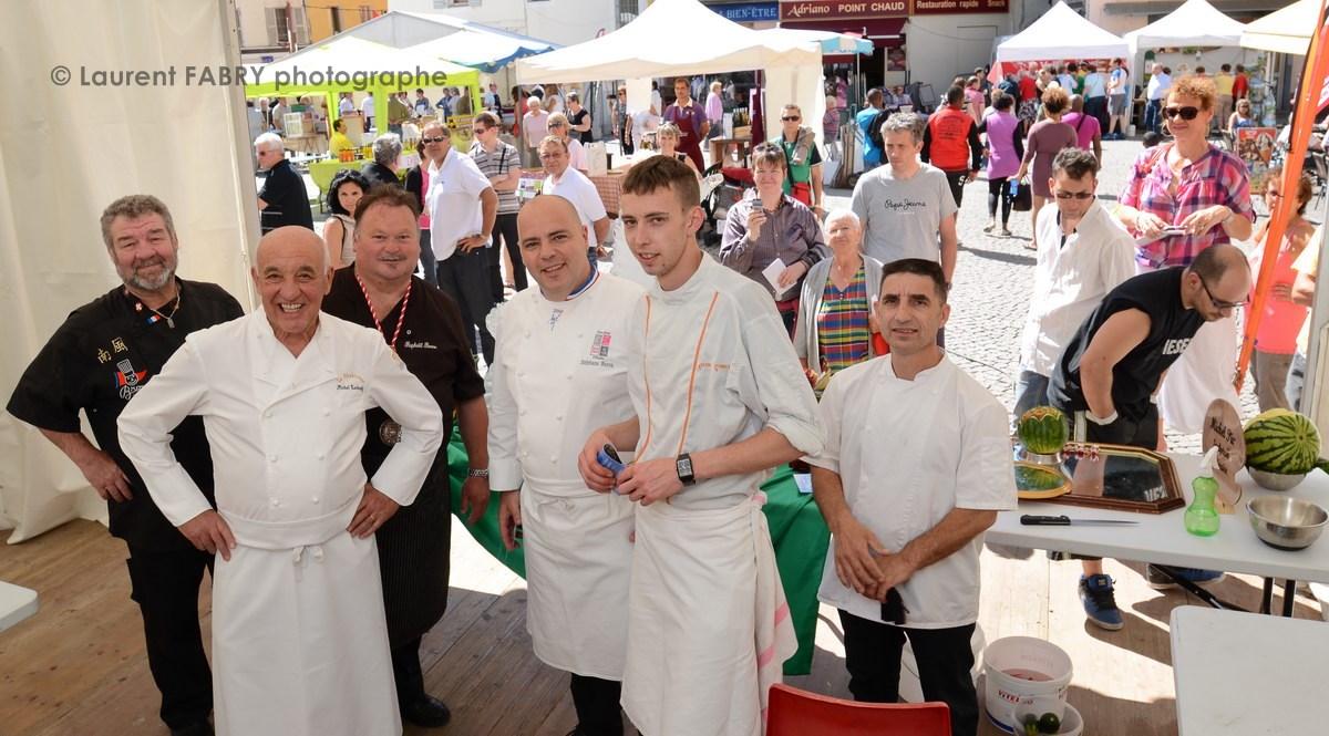 Photographe tourisme en Tarentaise : Les chefs Raphaë'l Bonne, Michel Rochedy, StéŽphane Buron et Michel Pio