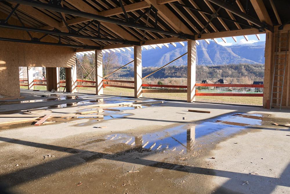 Photographe De Chantier En Combe De Savoie : à Saint-Pierre D'Albigny : Intérieur Du Bâtiment Juste Avant Sa Mise Hors D'eau