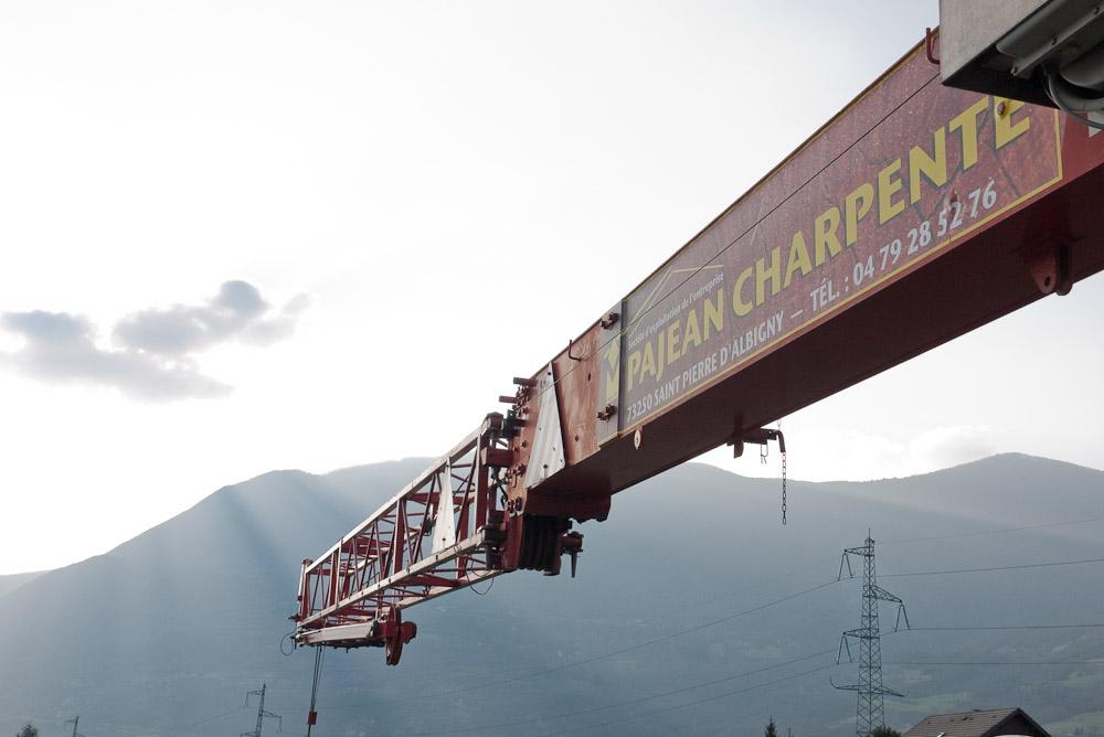 Photographe De Chantier En Combe De Savoie : à Saint-Pierre D'Albigny : Bras De Levage