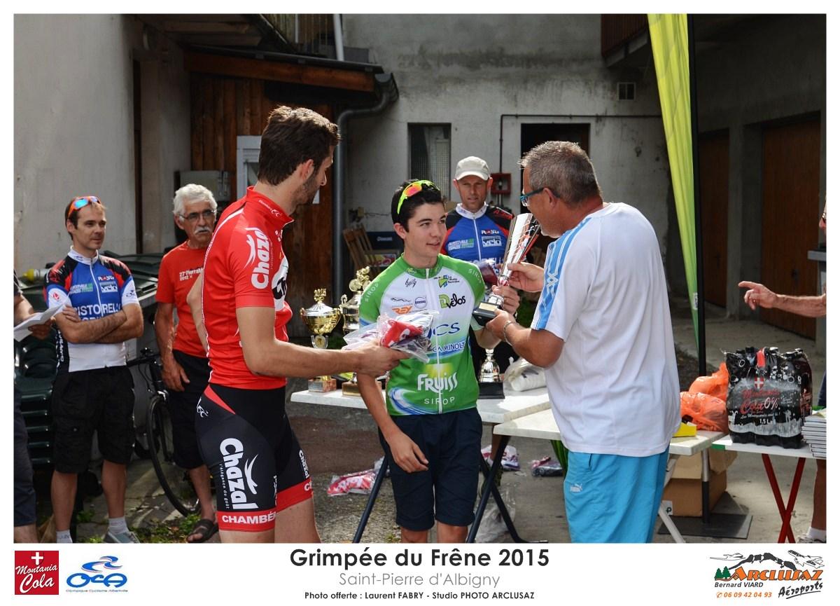 Photographe Cyclisme En Combe De Savoie : Remise Des Prix à La Grimpée Du Frêne, Saint-Pierre D'Albigny
