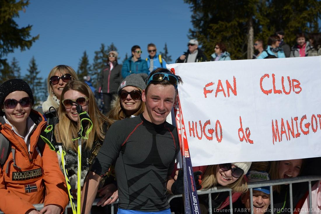 Photographe Sports De Ski Nordique En Savoie : Fan Club De Hugo De Manigod