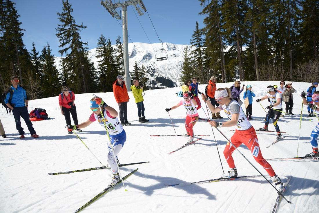 Photographe Sports De Ski Nordique En Savoie : Ski De Fond Sur Le Domaine De Méribel