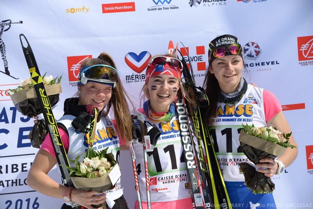 Photographe De Ski Nordique En Savoie : Podium De Ski De Fond Aux Championnats De France Organisés à Méribel