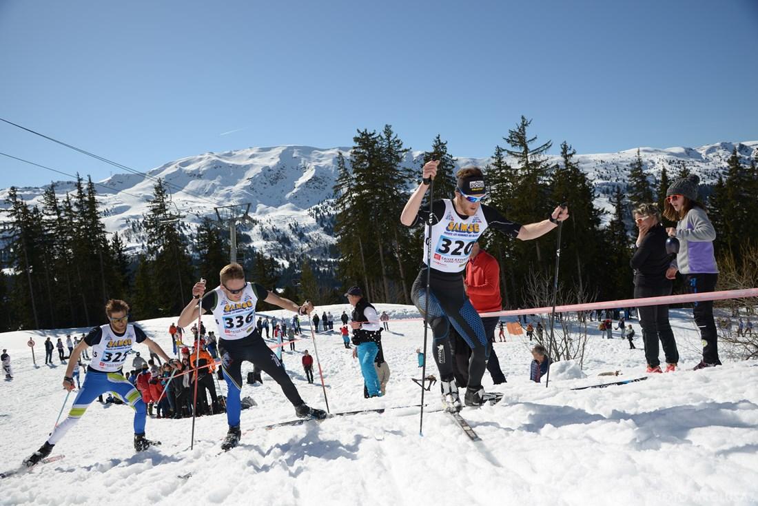 Photographe Sports De Ski Nordique En Savoie : Pendant Une Course De Ski Nordique à Méribel