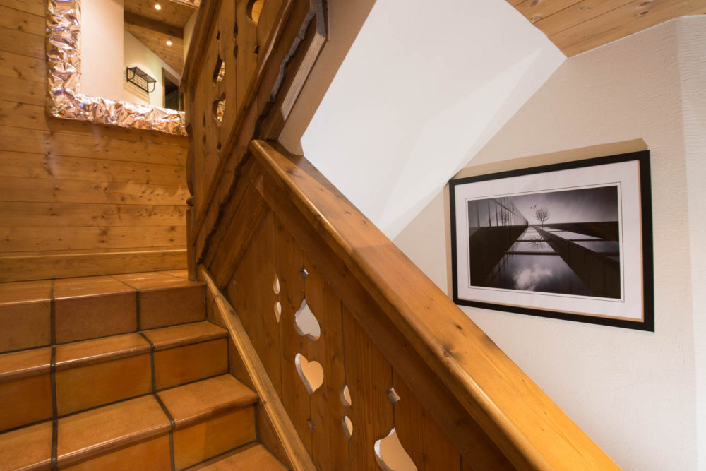 L'escalier D'un Chalet De Montagne