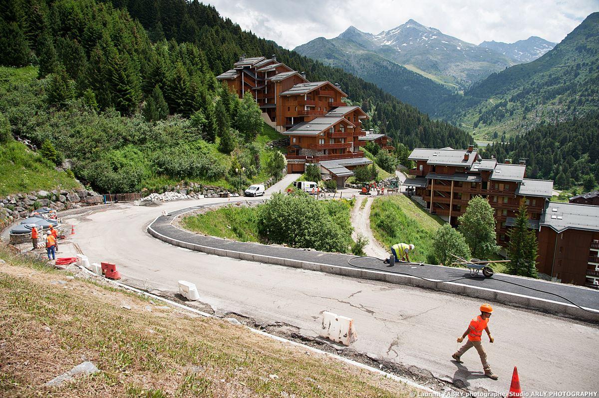 Reportage Du Photographe De Chantier Dans Les Alpes Sur Des Travaux De Forezienne D'Entreprises
