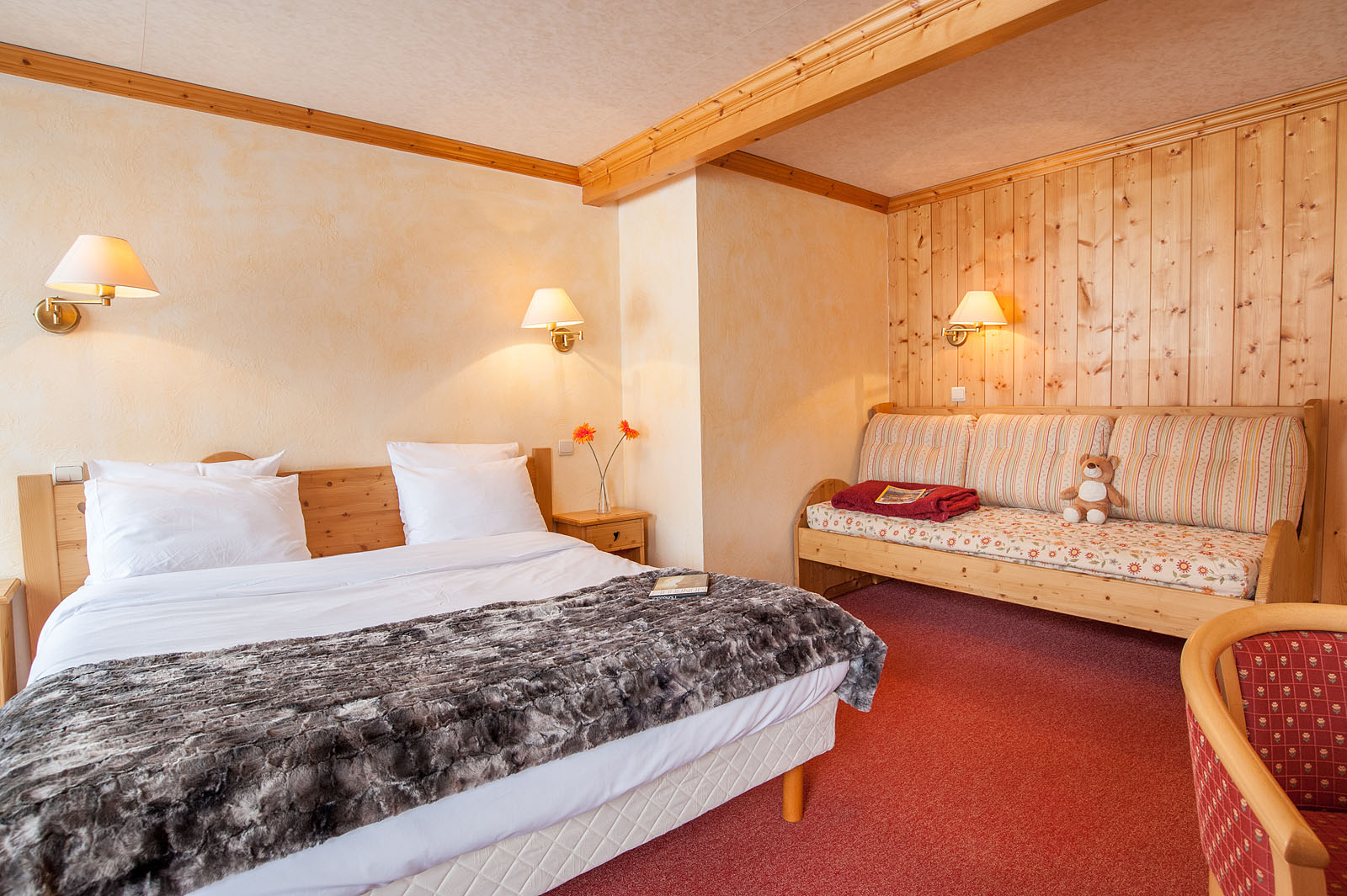 Photographe d'hôtel dans les Alpes, station de Crest-Voland