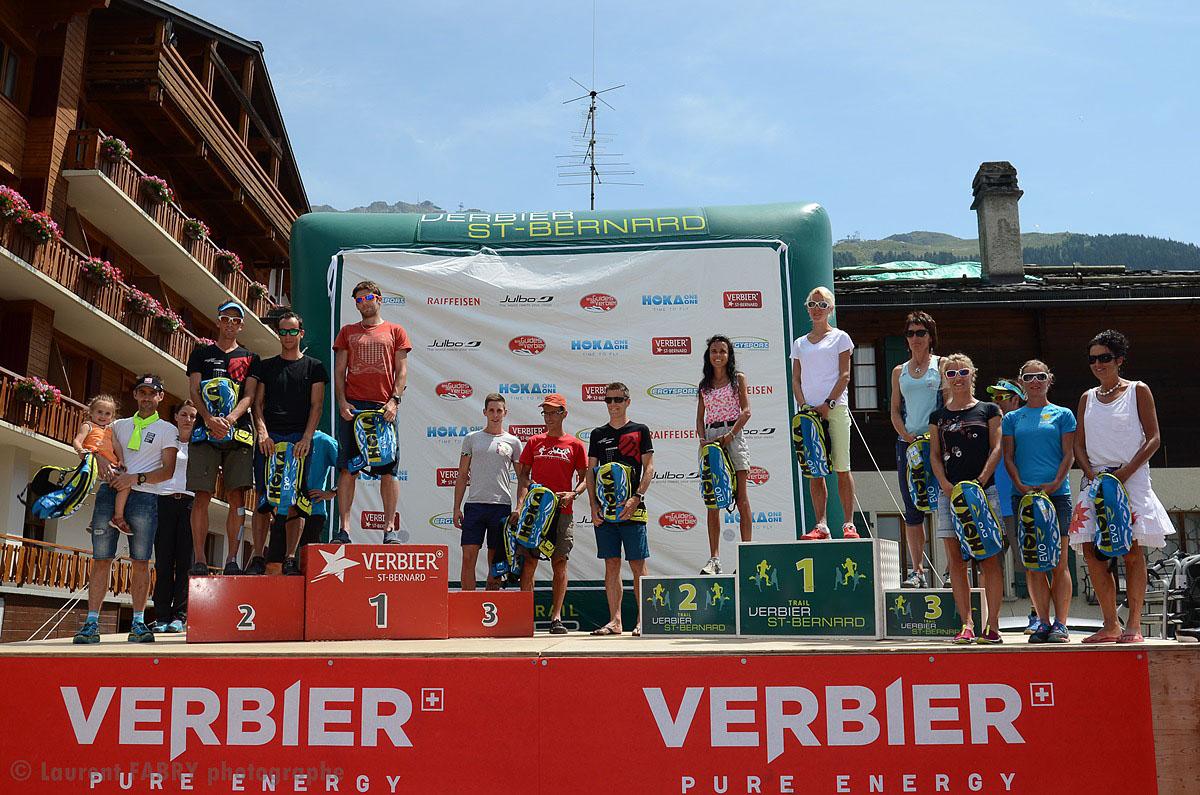 Photographe De Trail Running En Suisse : Un Des Podiums De La Course Du Trail Verbier Saint Bernard