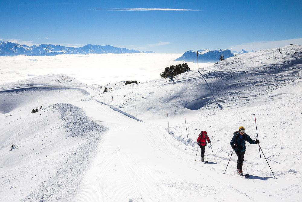 Photographe Patrimoine Et Traditions Dans Les Alpes : Ski De Randonnée Au Margériaz
