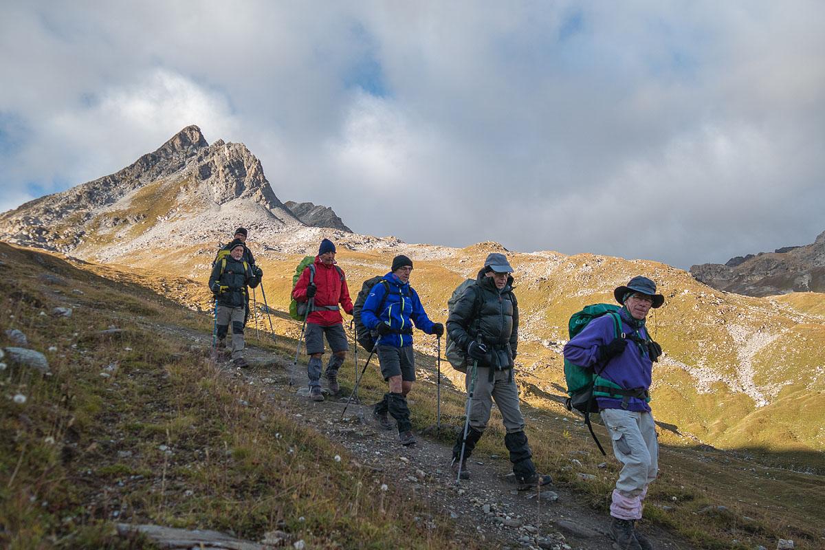 Photographe Sport De Montagne Outdoor En Vanoise : En Quittant Le Refuge Du Palet