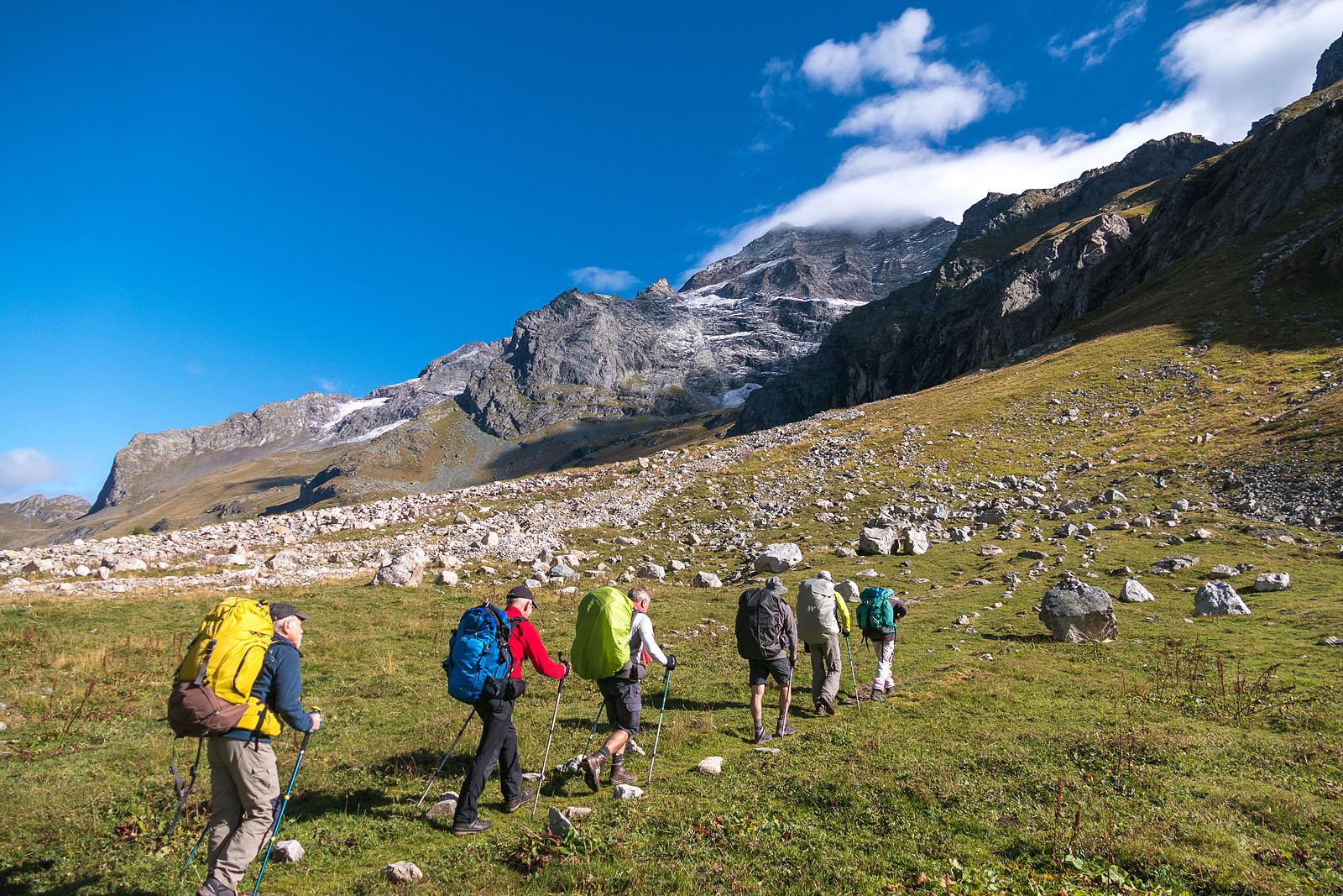 Photographe Sport De Montagne Outdoor En Vanoise : Ascension Vers Le Refuge Du Pourri