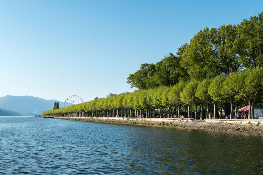 Photographe Urbanisme Pour Une Collectivité Dans Les Alpes (Aix-les-Bains) : L'esplanade Du Lac Du Bourget,