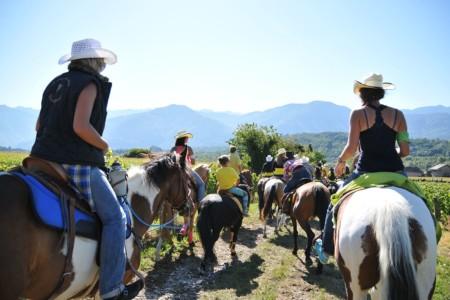 Photographe événementiel Sur Un Rallye équestre En Combe De Savoie
