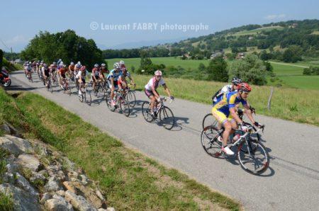 Photographe Course Cyclo Vers Quintal, Haute Savoie
