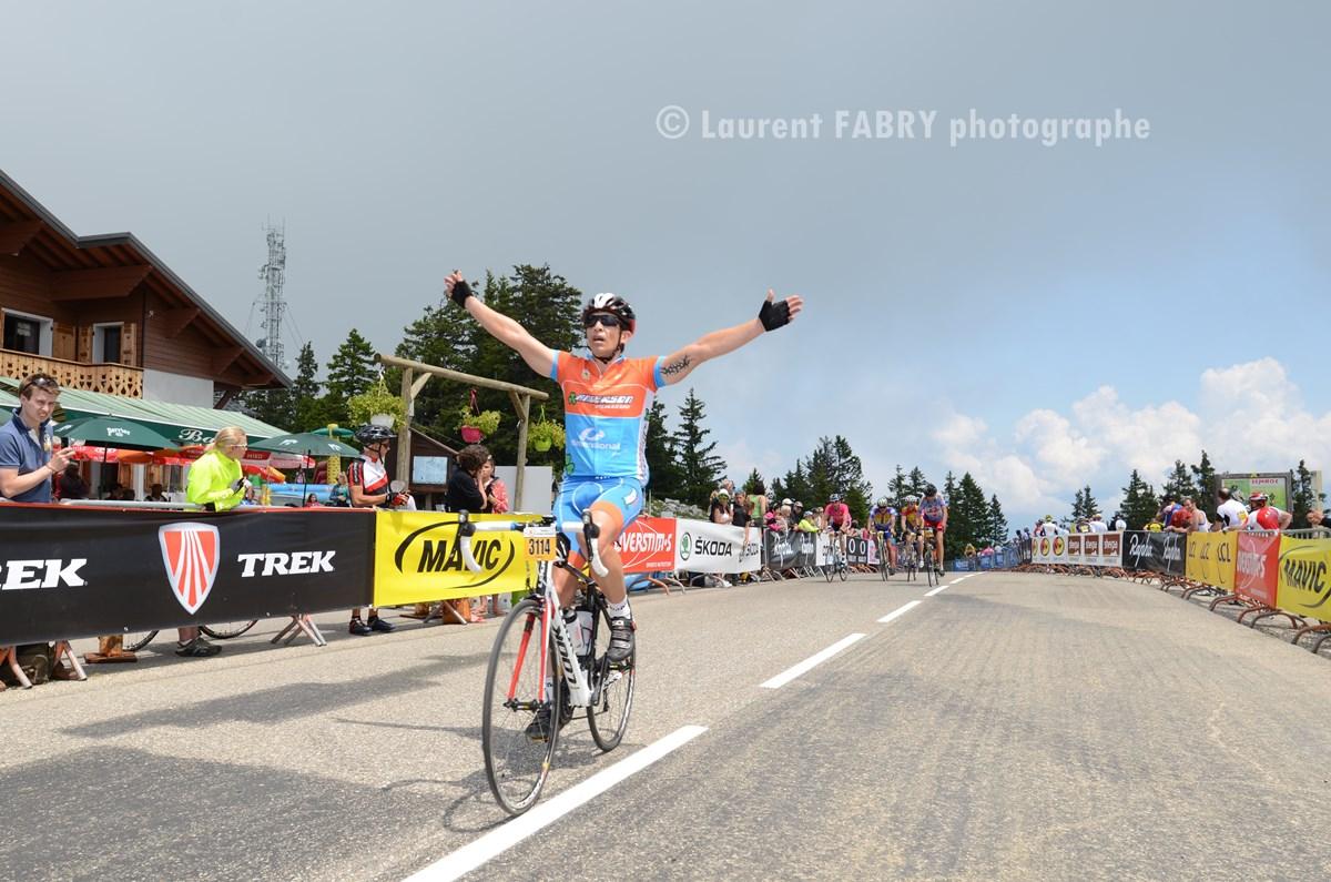 Photographe Sport Sur Une Course Cyclo Dans Les Bauges : Arrivée Au Semnoz