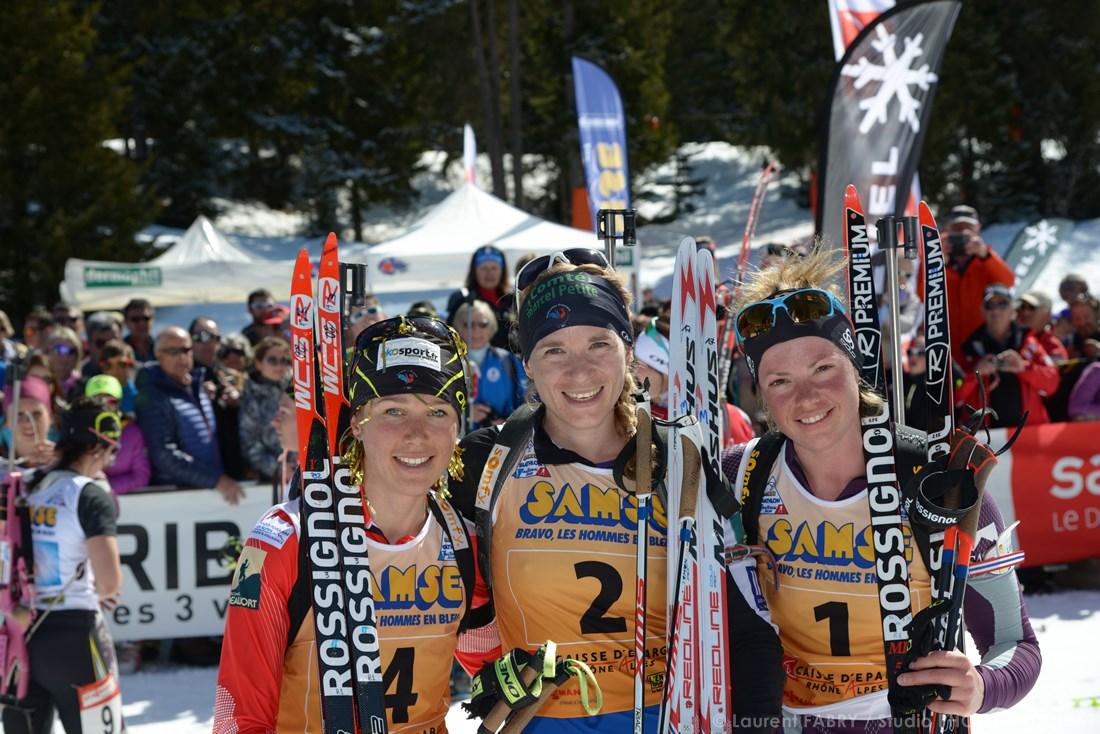 Photographe De Ski Nordique En Savoie : Trois Biathlètes Après Une Course