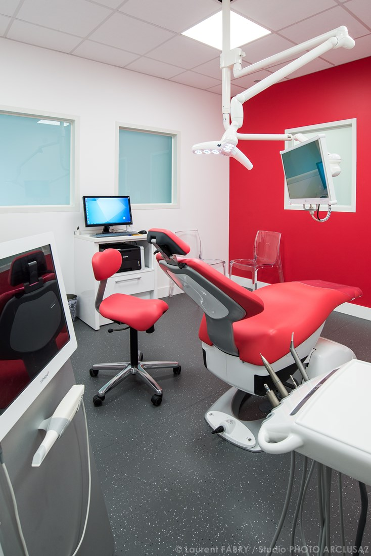 Photographe De Décoration Dans Le Domaine De La Santé Pour Un Cabinet Dentaire Dans Les Alpes