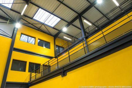 Photographe Architecture à Albertville : Photos De La Charpente Métallique Du CNSHN