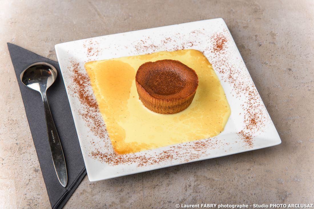 Photographe D'hôtel à Chambéry : Dessert Au Chocolat Servi Au Restaurant De L'hôtel Brit Hotel à Chambéry, Savoie