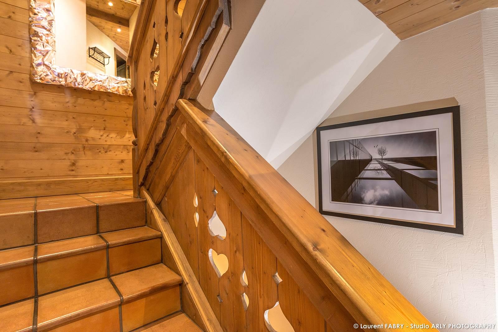 Photographe Chalets De Montagne à Méribel (3 Vallées) : Escalier