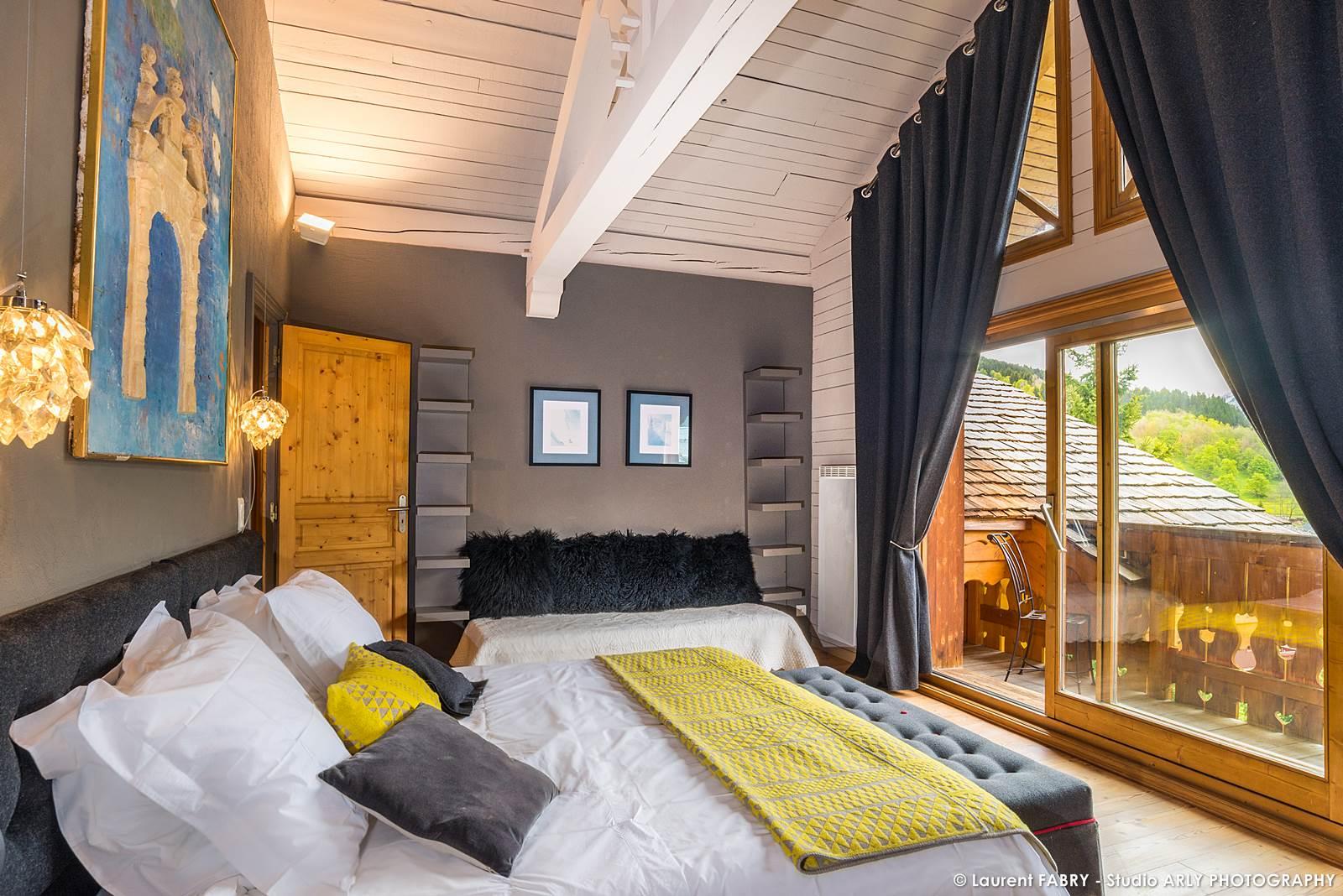 Photographe Chalets De Montagne à Méribel (3 Vallées) : Chambre