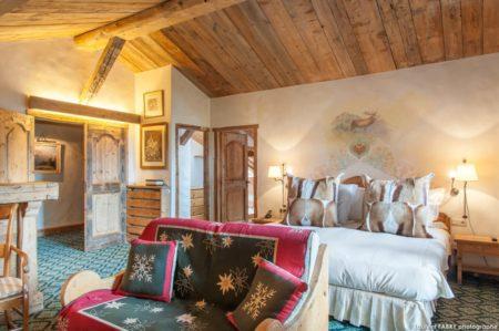 Photographe Hôtellerie à Megève : Une Chambre Du Chalet Du Mont D'Arbois, Hôtel 5 étoiles
