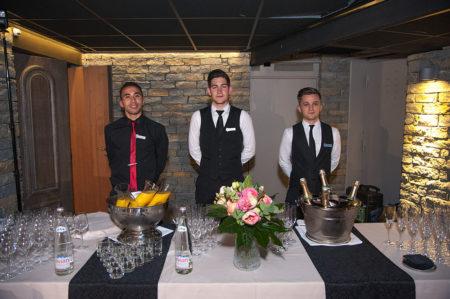 Photographe événementiel à Courchevel : Les Serveurs De L'hôtel Lana