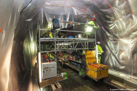 Photographe Industriel En Auvergne Rhône Alpes : Le Tunnel Est Rendu 100% étanche