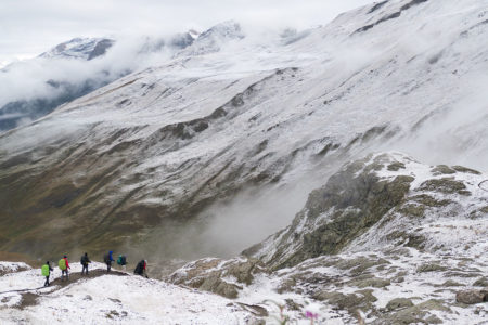 Photographe Sport De Montagne Outdoor En Vanoise : Descente Depuis Le Refuge Du Haut Des Fours