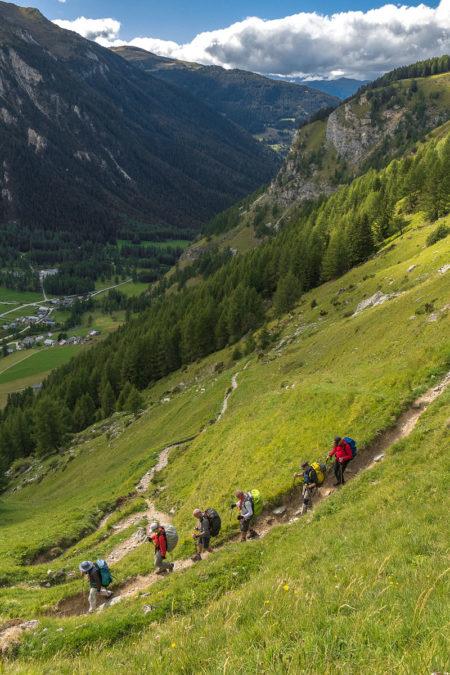Photographe Sport De Montagne Outdoor En Vanoise : Descente Vers Le Refuge De Rosuel