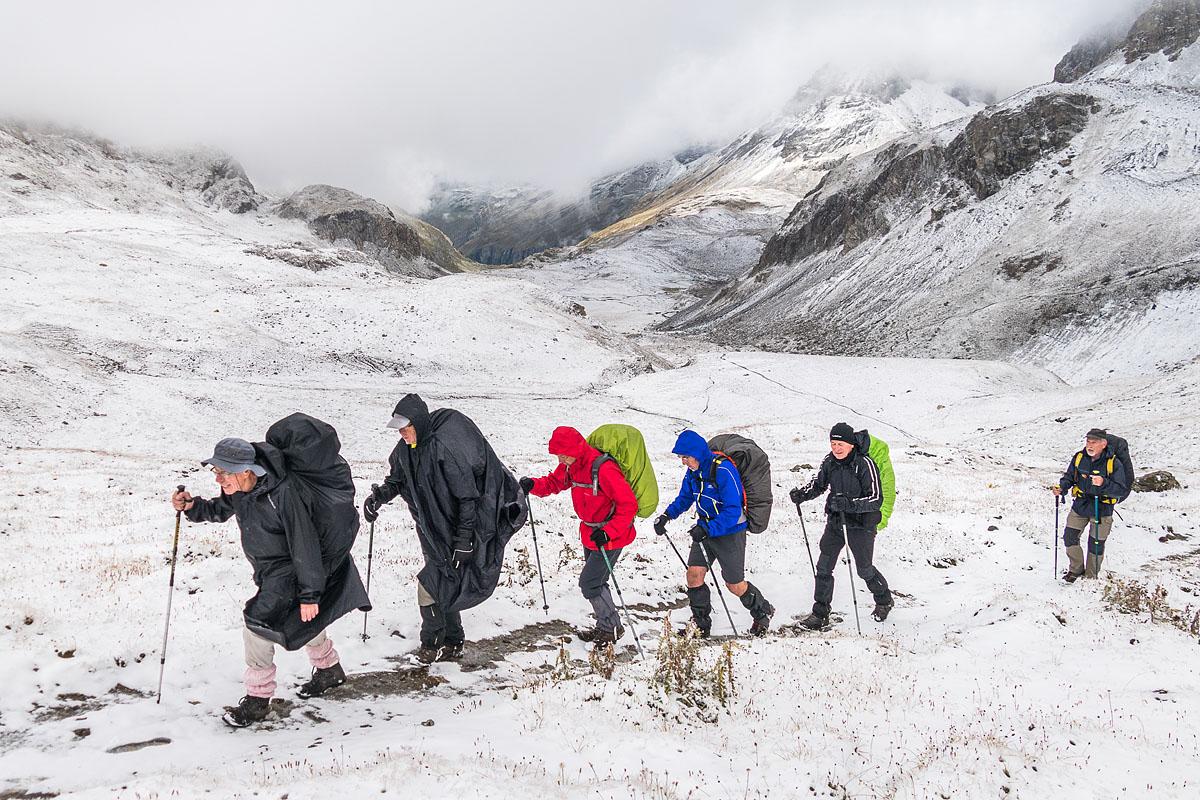 Photographe sport de montagne outdoor en Vanoise : randonnée dans la neige