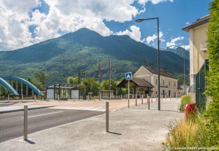 Parvis De La Gare De Saint-Avre (Savoie), Réalisation EVS : Reportage Urbanisme En Maurienne