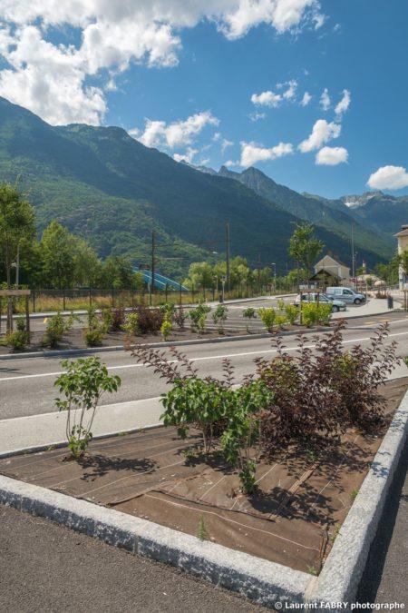 Parvis De La Gare De Saint-Avre (Savoie), Réalisation EVS : Photographe Urbanisme