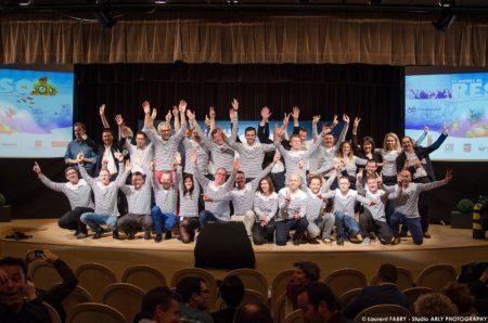 Photographe événementiel à Chambéry : Photo De Groupe Des Lauréats 2018 Du Réseau Entreprendre Savoie