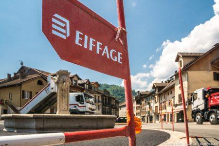 Photographe BTP En Savoie : Eiffage Place De L'hôtel De Ville à Ugine