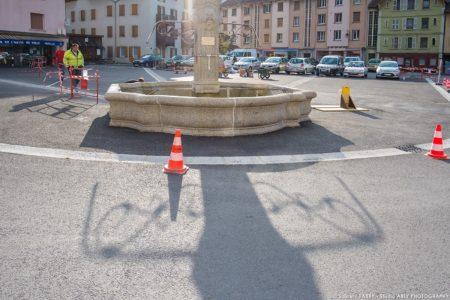 Photographe BTP En Savoie : Fontaine De La Place De L'hôtel De Ville
