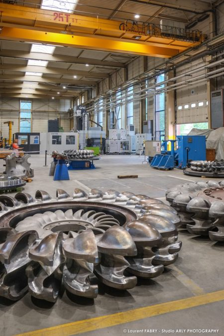 Photographe Industriel Professionnel : Entretien Des Roues Pelton Au SRH EDF D'Albertville