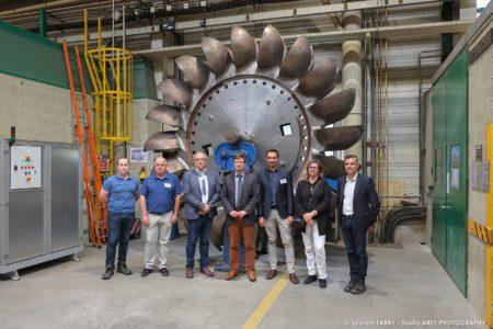 Photographe Industriel Professionnel : Photo De Groupe Lors De L'Aper'Eco Au SRH EDF D'Albertville
