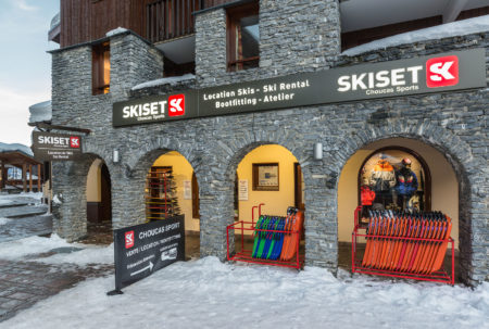 Photographe Magasin De Ski En Station : La Façade Du Magasin Skiset