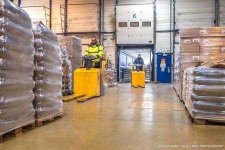 Entrepôt Logistique Dans Une Usine De Pâtes En Savoie