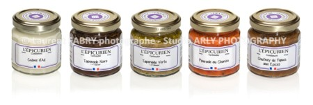 Photo Packshot De 5 Pots De Tapenades