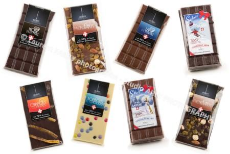 Packshot Culinaire De 8 Tablettes De Chocolat