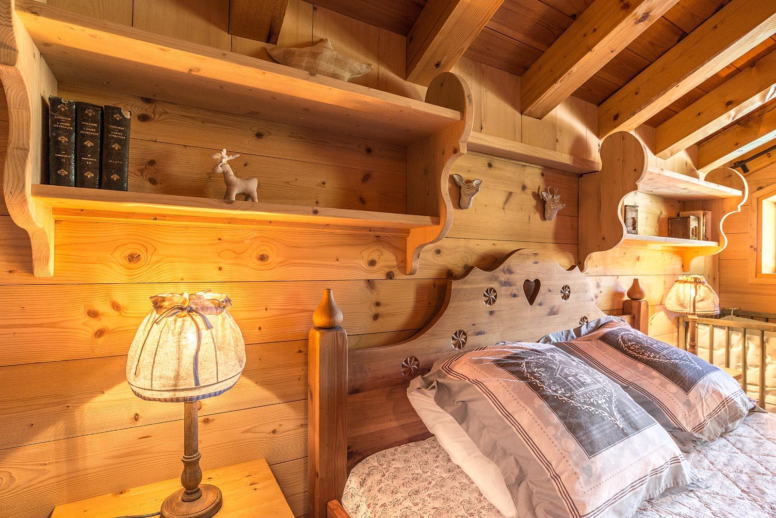 Chambre d'un chalet à Champagny-en-Vanoise