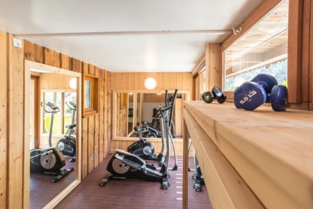 Salle De Fitness Dans Un Chalet De Montagne