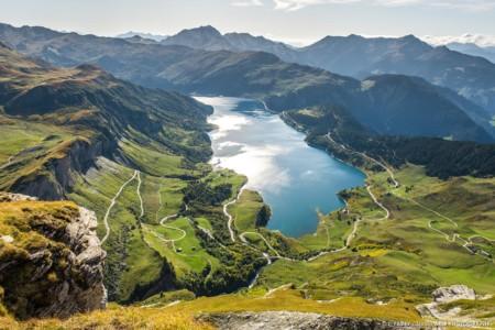 Le Lac De Roselend Depuis La Via Ferrata Du Rocher Du Vent (photographe Paysage Des Alpes)