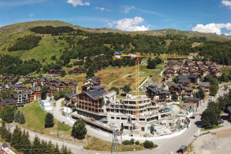 Photographe Vidéaste Drone Sur Un Chantier En Savoie