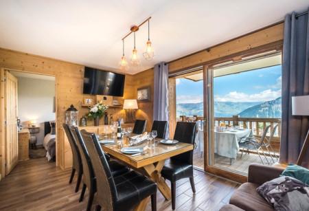 Photographe Appartement De Vacances En Maurienne : Salon Salle à Manger