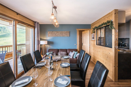 Photographe Immobilier La Toussuire : Salon Salle à Manger