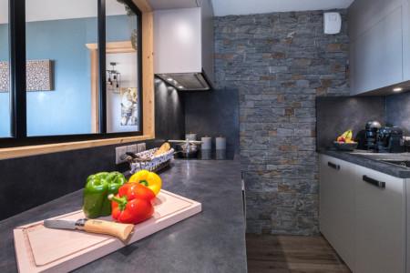 Appartement En Maurienne : La Cuisine Aménagée